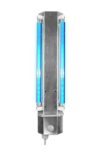 Automatische Desinfektion | industrielles Design | Desinfektionsmittel keimtötende UVC-Lampe mit Bewegungssensor | doppelt fluoreszierend | zerstört Bakterien und Viren, kontaktlose Desinfektionslampe