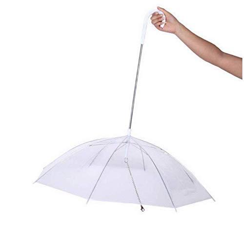 Gwill Transparent PE Pet Umbrella Kleiner Hund Bequemer Regenschirm Raincoat-Ausrüstung mit Hundeleinen Hält Das Haustier trocken bei Regenschnee