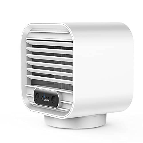 LLKK Mini ventilador refrigerado por agua, cargador de escritorio para el hogar, pequeño ventilador, ventilador de refrigeración por pulverización humectante