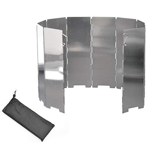 Arbougstg - Parabrisas plegable para exteriores, 10 platos,