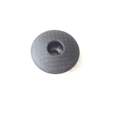 A-Head Carbon - Tapa para manillar de bicicleta, 1 1/8 pulgadas, mate