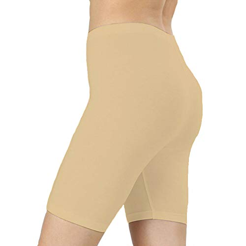 RSVH Fahrrad-Shorts für Mädchen, Jungen, Nylon, Lycra, Unisex Kinder, beige, 13-14 Jahre