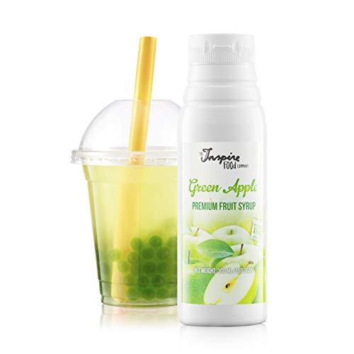 Fruchtsirup für Bubble Tea - 300ml - Grüner Apfel - Ohne künstliche Farbstoffe - 100% Vegan und Glutenfrei