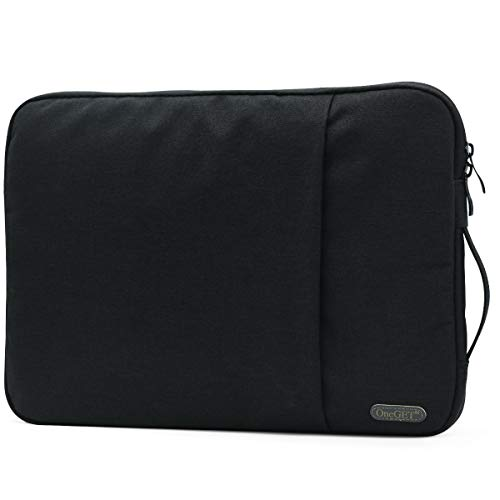 OneGET Laptop Sleeve for 2020 13 Inch Macbook Internal Fluff Laptop Bag With Accessory Pocket, Protective Carrying Case Cover for 13' Lenovo Dell Hp Asus Acer Chromebook(13-13.3Inch, Black)