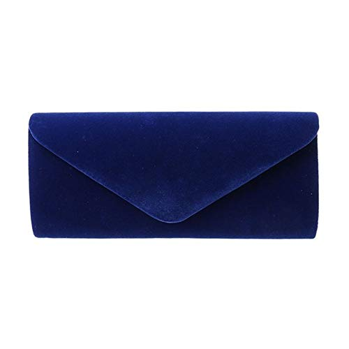 LinZX Elegante Damen Velvet Clutch Abendtasche,Royal Blue