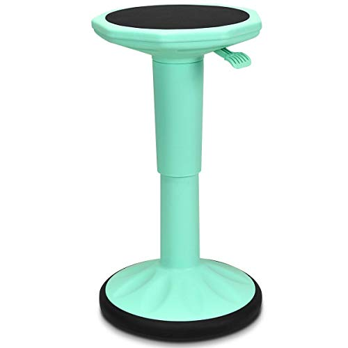 LHONE Wobble Stool Adjustable Height Ergonomic Active Learning Stool Sitting Balance Perching Chair for Standing Desk Classroom Adults Black (Green)