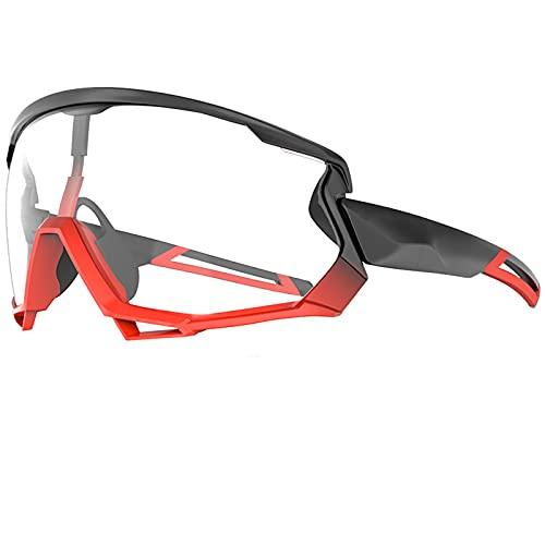 Gafas Sol Polarizadas Fotocromática, 5 Lentes Intercambiables UV400 Protección Antivaho Antireflejo Anti Viento, Deportivas 100% Protección UV400,B