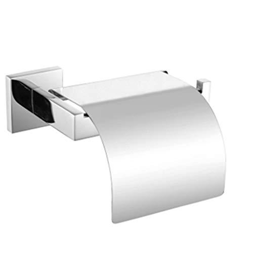 RUNWEI Titular de Papel higiénico Cepillado Ligero tirón de Papel Titular Square 304 Acero Papel de Toallas