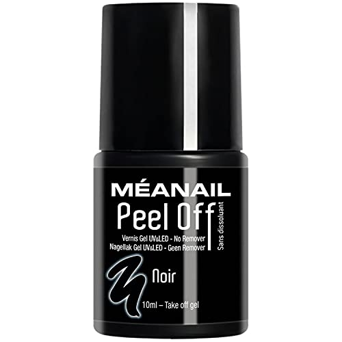 MEANAIL ® PARIS - Smalto GEL/UV semi permanente - Collezione PEEL OFF - Mettete e Togliete in modo ultra rapido senza il bisogno di nessuna base e nessun top coat! - 10ml Colore: NOIR - RR0084V