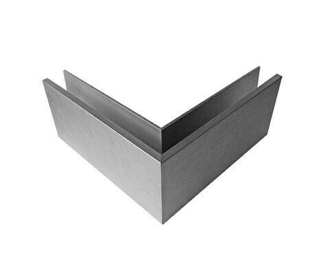 Barandilla de cristal, barandilla de cristal, perfil de suelo, de aluminio, montaje en suelo, kit de montaje L (esquina exterior de 90 grados)