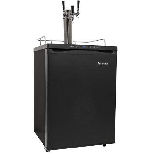 EdgeStar KC3000TRIP Full Size Triple Tap Kegerator with Digital Display - Black