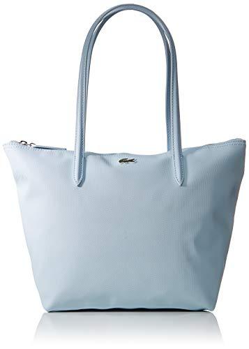 Lacoste Damen L.12.12 Concept Schultertasche, Blau (Illusion Blue), 14x25x24 Centimeters