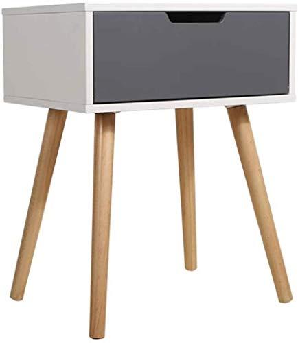MXueei Computer Desk ZfgG Kleine Vierkante Koffie Side Einde Tafel nachtkastje Eenvoudige Slaapkamer Wit&grijs (Kleur, Wit-40x30x50.5cm)