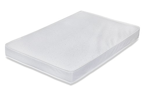 LA Baby Waterproof Portable/Mini Crib Mattress, 3' - Made in USA with Triple Laminated, Easy to Clean, Hypo-Allergenic, Anti-Microbial & Non-Toxic Cover, 24 x 38 - Made in USA