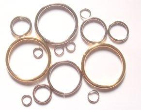 マルカン 鉄タイプ つなぎ(切れ目あり)つなぎあり (40mm(内径)×3.9mm(線径)つなぎロー付け(溶接) 鉄製, アンティーク)