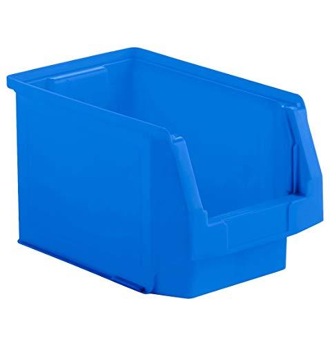 SSI Schäfer Sichtlagerkasten Regalkasten Lagerkasten, Blau, Serie LF 322, 10,4 Liter