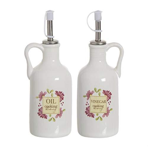 Home Gadgets Aceitera y Vinagrera Ceramica Floral Market 19 cm