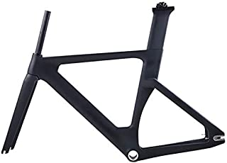 Carbon Track Frame Road Frame Fixed Gear Bicycle Frame Frameset with Fork Seat 49/51 / 54Cm Carbon Bicycle Frame,54cm