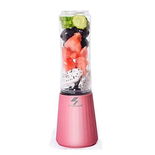 ERKEJI Batidoras de Vaso Mini licuadora portátil para Exprimir jugos con 4 Cuchillas de Acero Inoxidable, 300 ml, prensadas, Batidos de Leche, Alimentos para bebés