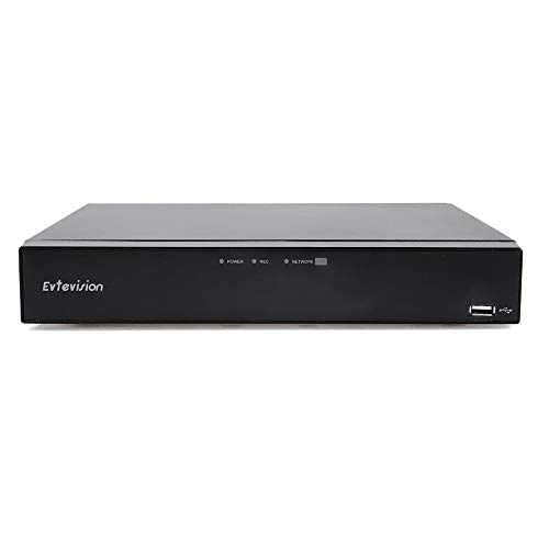 Evtevision 16 Canales HD 1080P Grabador de Video Digital 16CH H.265 AHD/TVI/CVI/Analog/Onvif IP Híbrido DVR,Admite Alerta de Detección de Movimiento, Vista Remota(Sin Disco Duro)