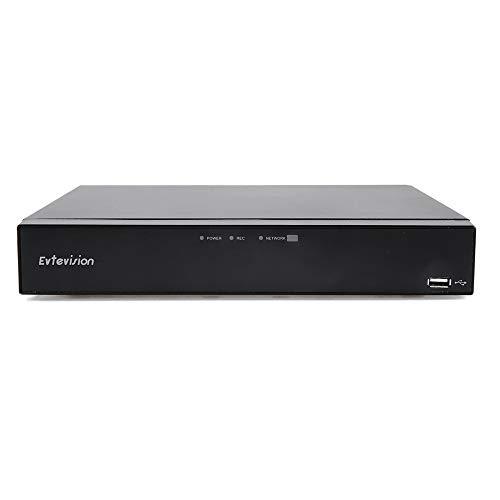 Evtevision 16 Canales HD 1080N Grabador de Video Digital 16CH H.265 AHD/TVI/CVI/Analog/Onvif IP Híbrido DVR,Admite Alerta de Detección de Movimiento, Vista Remota(Sin Disco Duro)