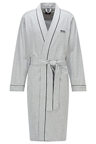 BOSS Hommes Kimono BM Peignoir Style Kimono en Coton brossé avec Logo