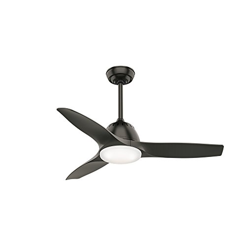 Casablanca Fan Company 59287 44' Wisp Small Room Ceiling Fan with Light with Handheld Remote, Noble Bronze finish