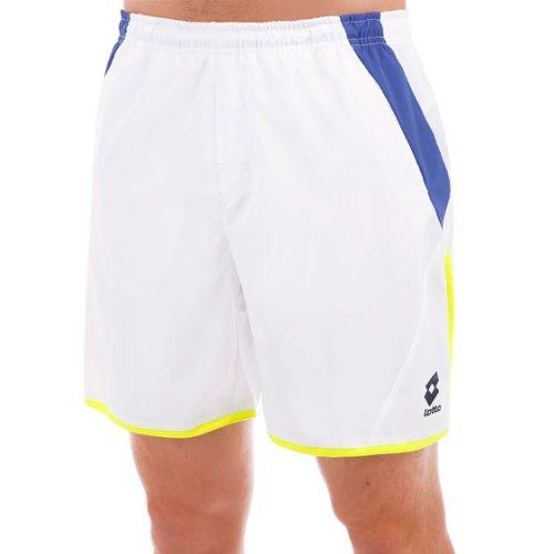 Lotto Sport, Pantaloni Corti Uomo Matrix, Bianco (White/Shiver), XXXL