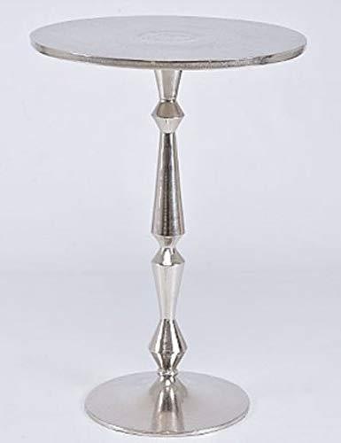Casa Padrino Jugendstil Beistelltisch Silber 35 x 22 x H. 50 cm - Kleiner Aluminium Tisch
