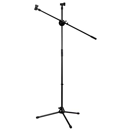 AmazonBasics Tripod Boom Microphone Stand - Height-Adjustable with Metal Base - 3.1 - 5.3-Foot, with Clothespin Mic Clip