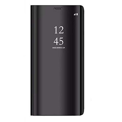 Samsung Galaxy S6 Edge Plus Funda, Flip Tapa Libro Carcasa - Modelo Inteligente Fecha Case del Dura Plegable Elegante, Cover Pantalla Integral Cubierta para Samsung Galaxy S6 Edge Plus (Negro)