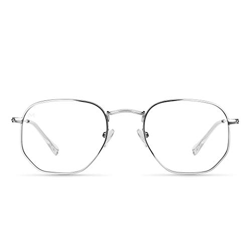 Meller - Eyasi Silver - Anti Blaulicht-Brille für Herren und Damen