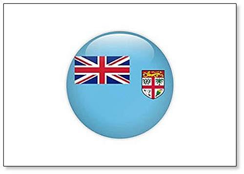Kühlschrankmagnet, Motiv Fidschi-Flagge auf Knopf, klassisch