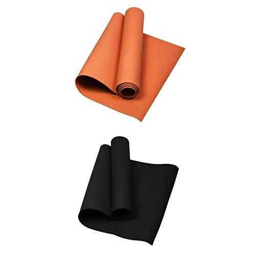 lahomia Esterilla de Yoga de 2 Piezas Libre de Sustancias Nocivas - 173 X 60 Cm, 4 Mm de Grosor - Esterilla de Ejercicio