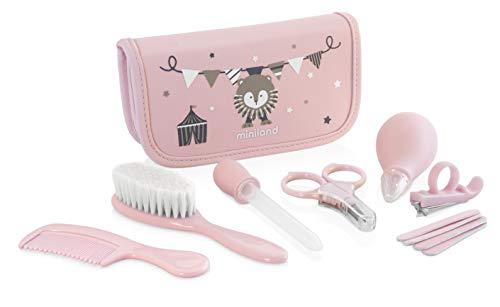 Miniland komplett Zuhause und unterwegs Baby Care Kit, Pink