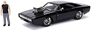 Jada Toys Fast & Furious Dom & Dodge Charger R/T, 1: 24 Scale Black Die-Cast Car with 2.75