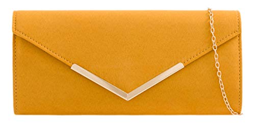 Girly Handbags de estructura pequeña embrague bolsa - Mostaza