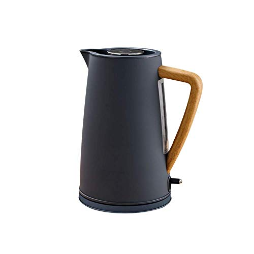 DGHJK 1800W Stainless Steel Electric Kettle with Wooden Plastic Handle 1.7L #304 Food Grade SS Heating Water in 5 Minutes,Household,White