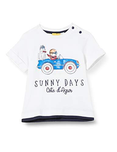 Chicco Baby-Jungen T-Shirt Manica Corta Bimbo Pullunder, Weiß (Bianco 033), 86 (Herstellergröße: 086)