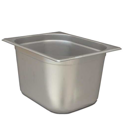 Allpax GN Behälter 1/2 Edelstahl, Gastronormbehälter zum Bereitstellen von warmen und kalten Speisen, aus rostfreiem Edelstahl, hitzebeständig bis 300 °C, ideal für den Gastro-Bereich