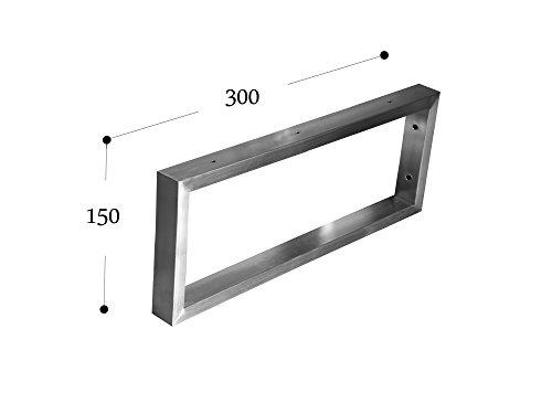 Chyrka® - Soportes de pared de acero inoxidable 201, 40 x 20 cm, para estanterías, encimeras o lavabos