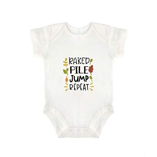 DKISEE Mono de bebé divertido de la muchacha del bebé del salto de la pila rastrillada
