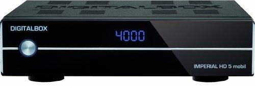 Digitalbox Imperial HD 5 mobil Digitaler Satelliten-Receiver (HDMI, SCART, USB) schwarz