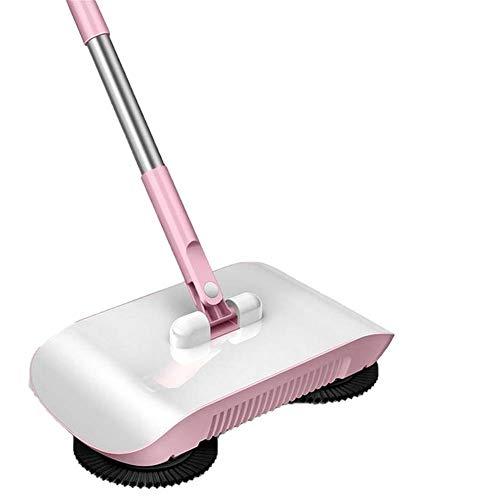 R&Xrenxia Hand Push 2 in 1 Kehrmaschine Teppichkehrmaschine Spinning Besen Lazy Magic Besen Kehrmaschine 360 ° mit Lumpen für Home Boden Clearn Staubsauger,A