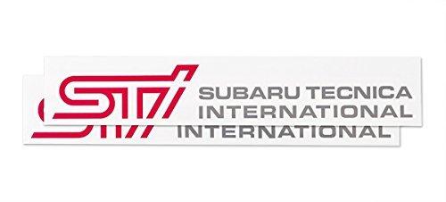 SUBARU/スバル STI【ステッカーC(チェリーレッド)】2枚入り【STSG14100310】