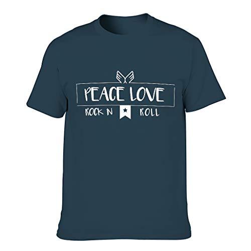 Camiseta de algodón para hombre Peace Love and Rock 'N Roll – Casual Summer Top