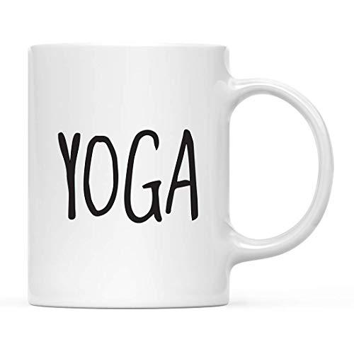 Regalo de taza de cerámica de té y café de yoga, no estoy dormido, haciendo yoga, gráfico de pestañas, 1 paquete, ideas de regalo de cumpleaños de Navidad