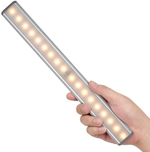LED Closet Light,Motion Sensor Light Under Cabinet Lights,Wireless Motion Activated Closet Lights,USB Battery Rechargeable Magnetic Cabinet Light for Closet/Drawer/Cabinet/Cupboard,18 LED,White Light
