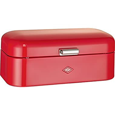 Wesco Grandy – German Designed - Steel bread box for kitchen/storage container, Red