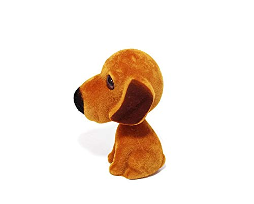 Batty Bargains Fidgety Bobblehead Dacshund Mutt Dog with Auto Dashboard Adhesive